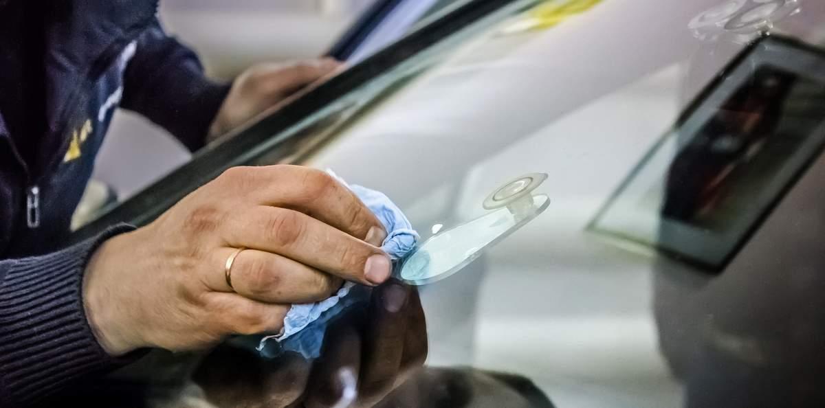 ремонт трещины на лобовом стекле юао